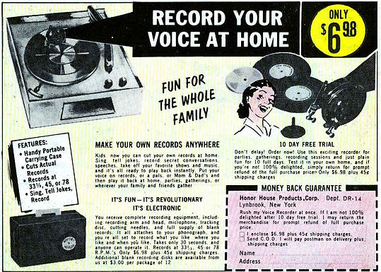Vintage 'record from home'!