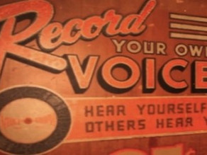 Why can't I record a voice over myself?