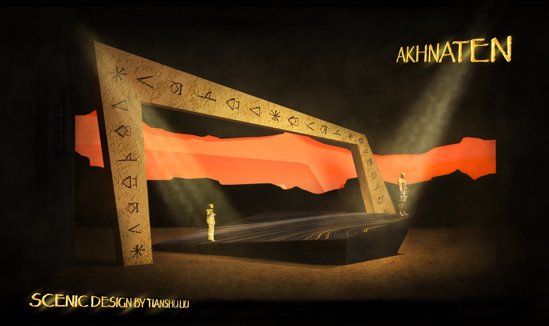Rendering for Akhnaten (Opera)