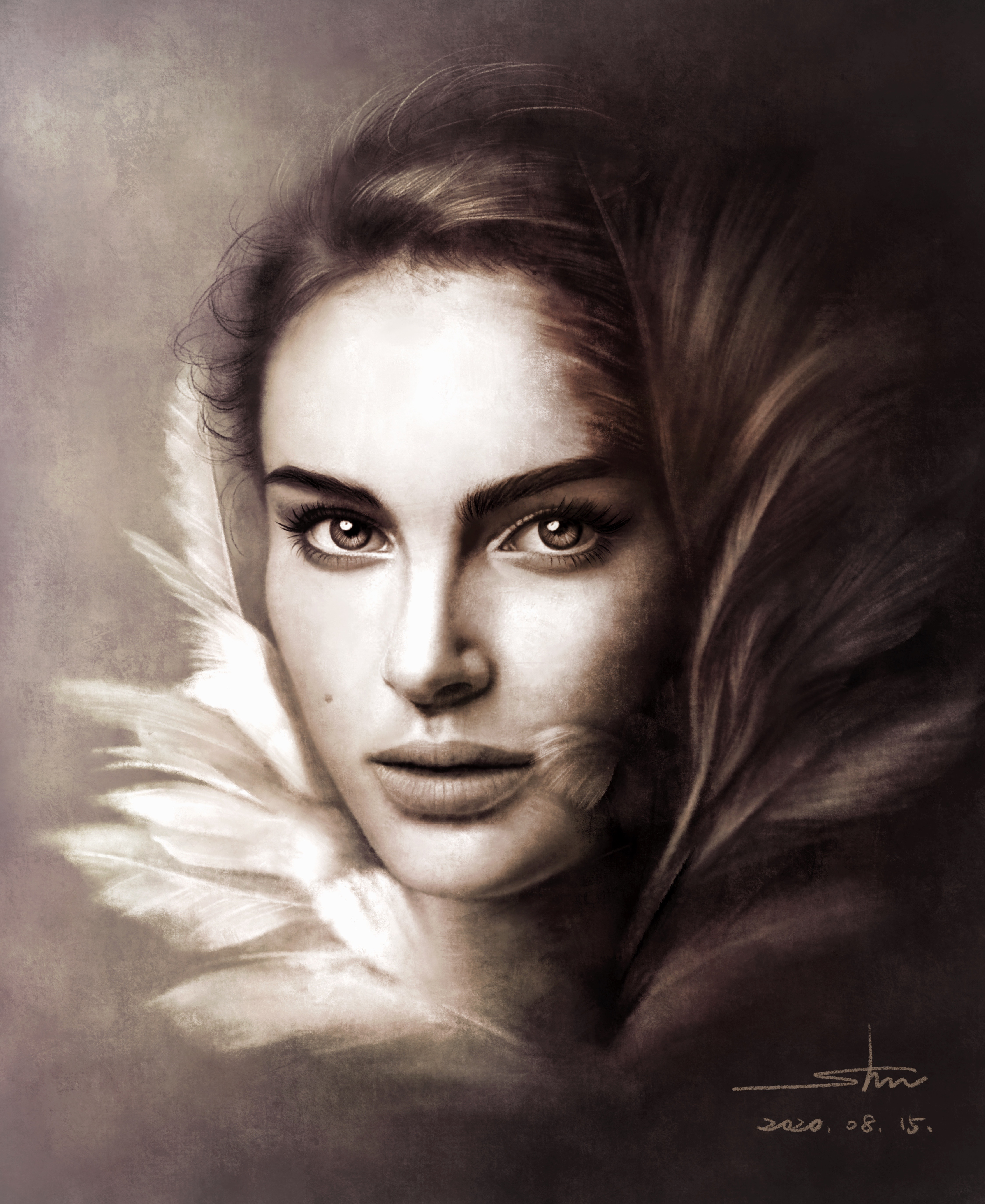Digital Drawing of Natalie Portman