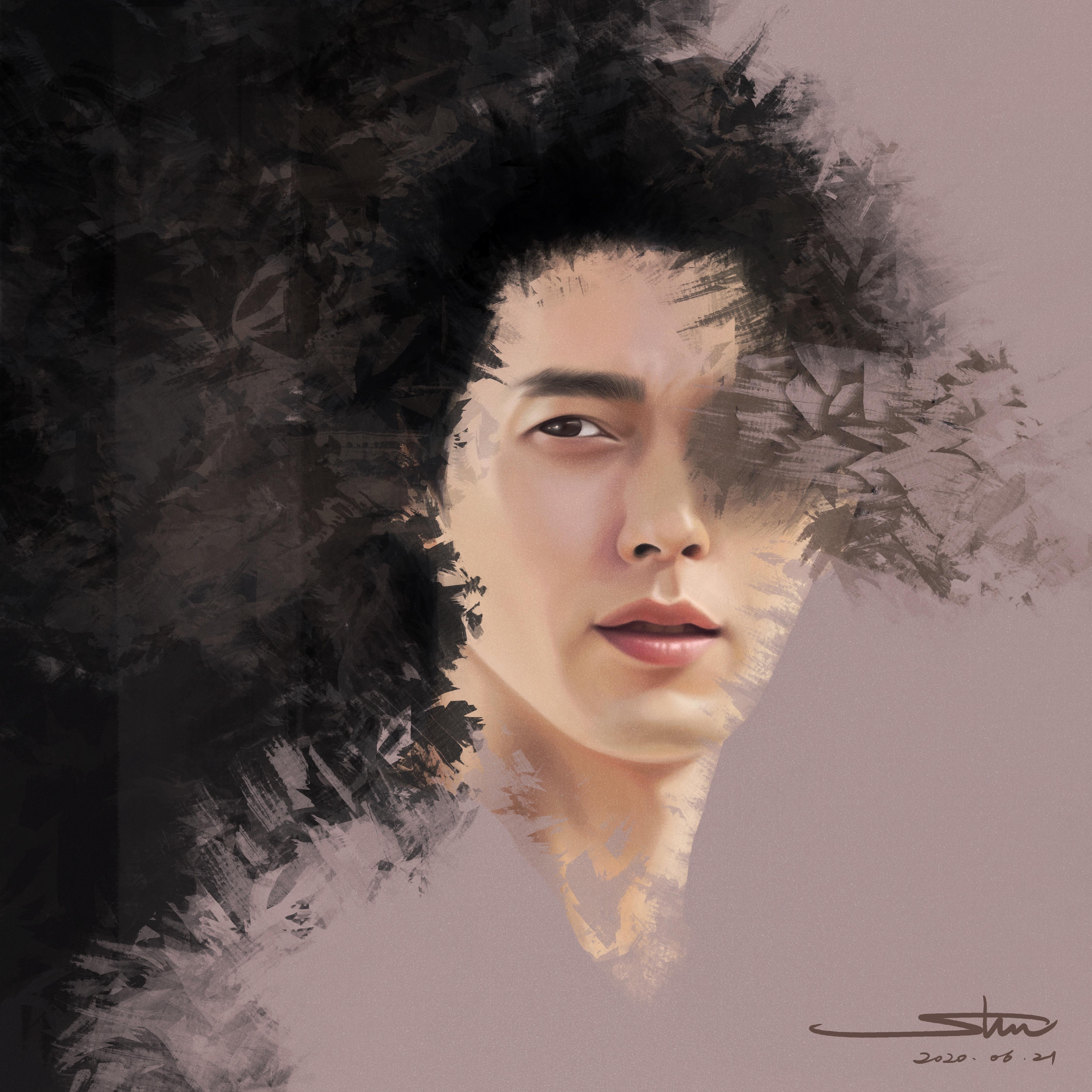 Digital Drawing of Hyun Bin
