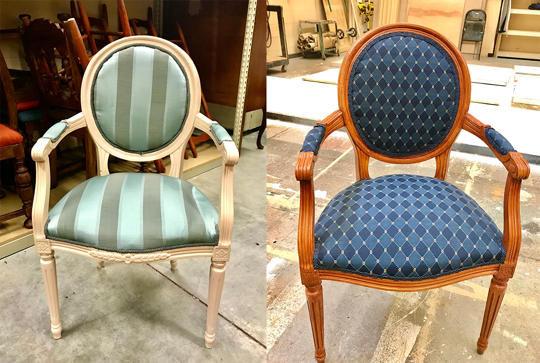 Chair reupholstery and repaint