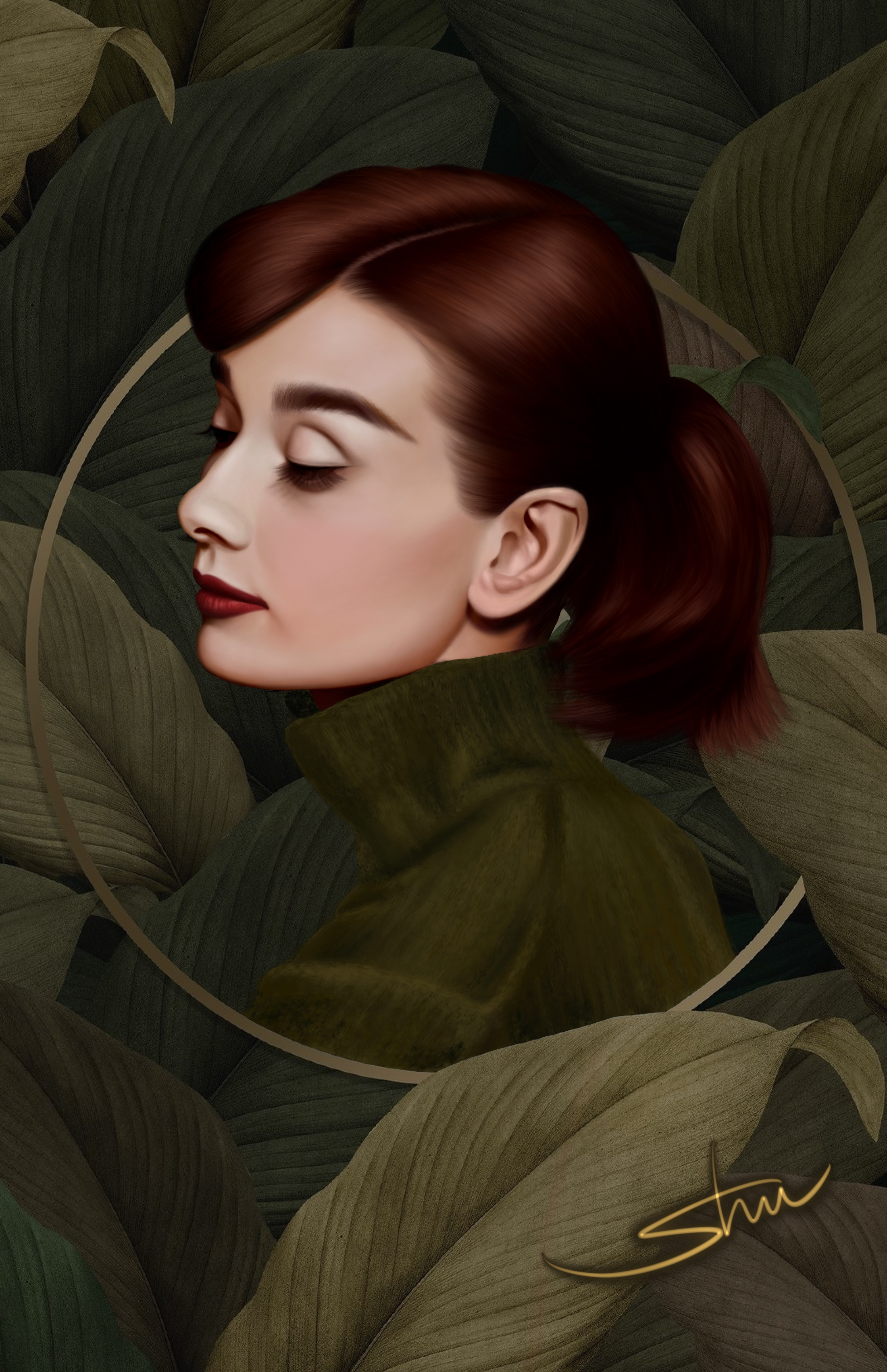 Digital Drawing of Audrey Hepburn