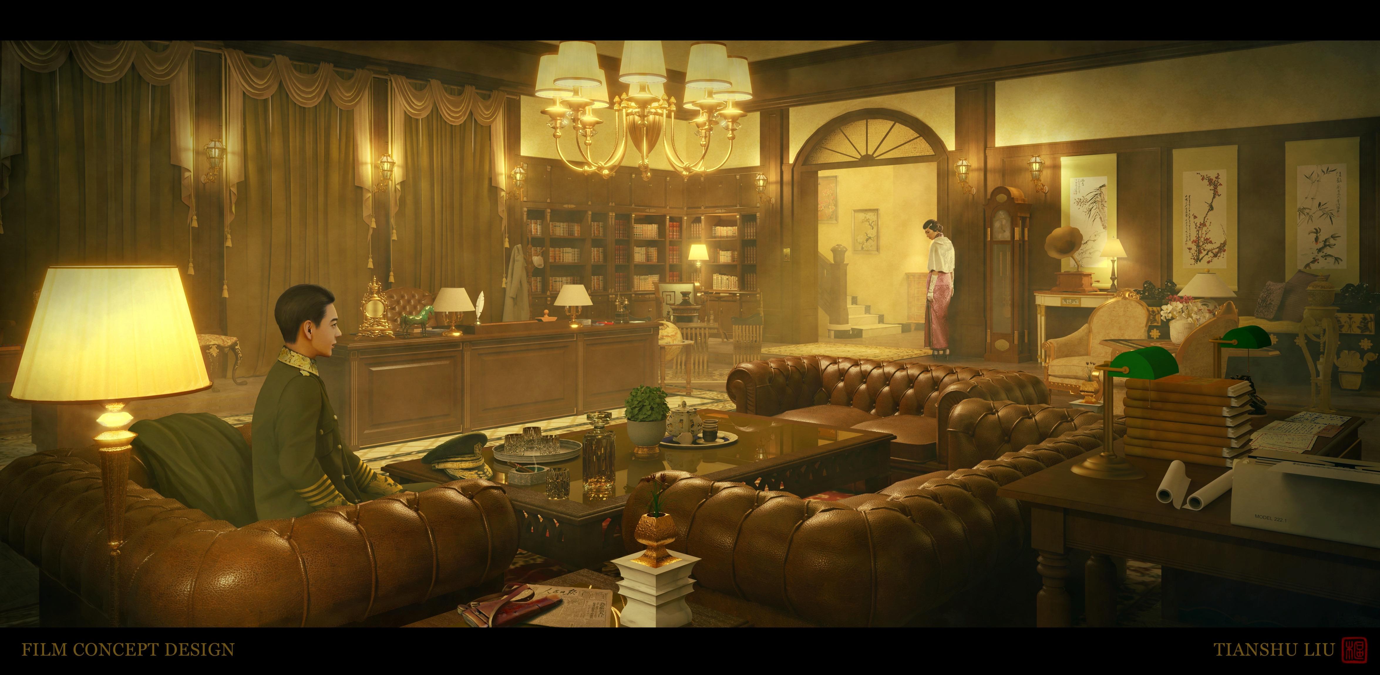 Minguo (Old Shanghai) Film Concept Design 2
