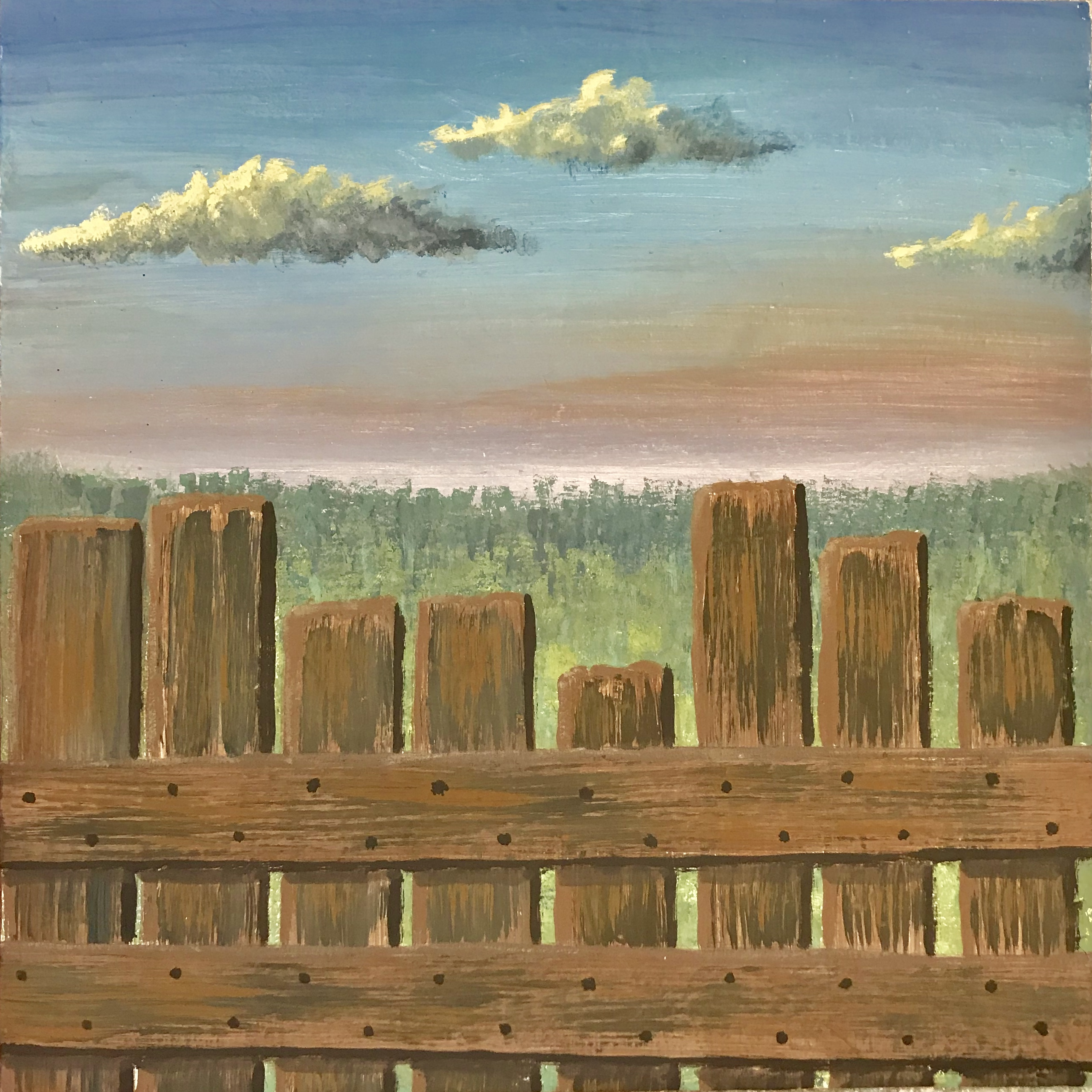 Scenic Painting Wood Fence Project