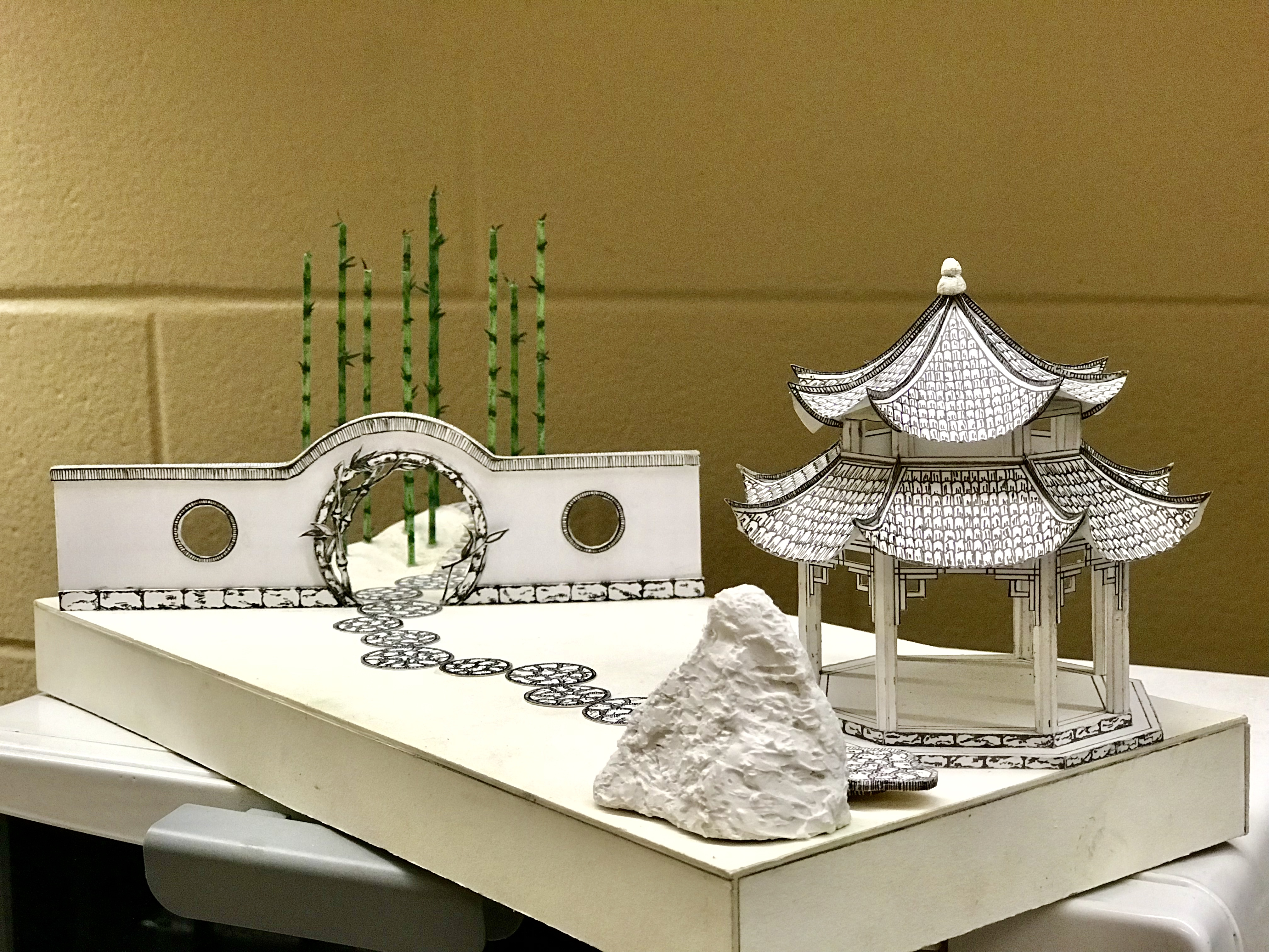 "Chinese Garden Model (1/4""=1'-0"")"