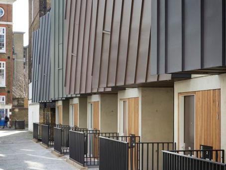 Zinc cladding at Godson Street, Islington