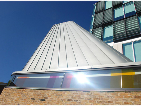 Zinc roofing at West Ham Church