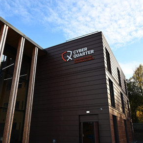 Zinc cladding at Hereford cyber security centre