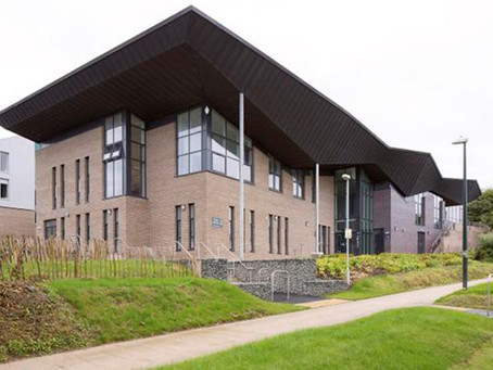 Zinc roofing at Aberystwyth University