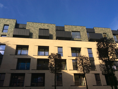 Anthra-Zinc cladding at Chelmsford Balconies