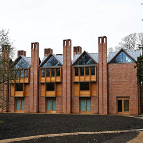Zinc standing seam roofing at Magdalen College, Oxford