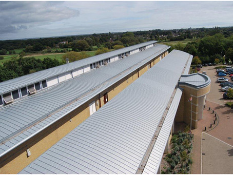 Zinc roofing at Bournemouth Crown Court
