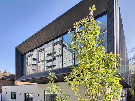 Zinc cladding at Parkside Youth Centre, Hackney