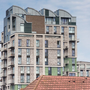 Roofing and cladding at Royal Gateway, Canning Town