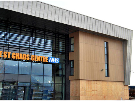 Copper cladding at The St Chad's Centre, Kirkby