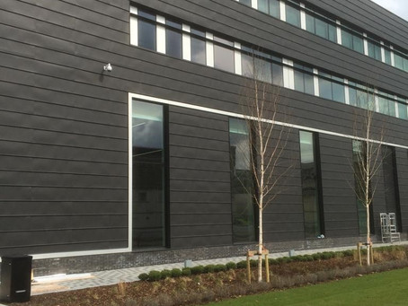 Zinc cladding at Hendon Police Station