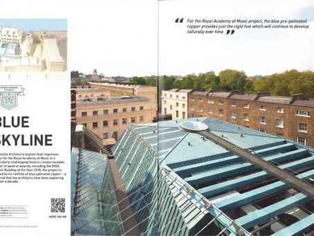 Press: Royal Academy of Music, Copper Architecture Forum Magazine