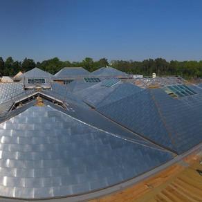 Zinc roofing at RHS Garden Wisley