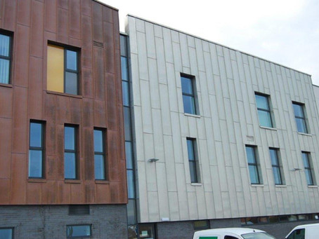 Copper cladding at Kirby Health Centre