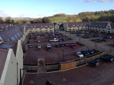 Zinc roofing at Bath Spa University