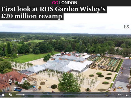 Press: First look at RHS Garden Wisley's £20 million revamp, Evening Standard
