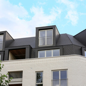 Zinc roofing and cladding at Bourne Estate, Holborn