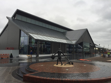 Zinc roofing and cladding at Cheshire Oaks Designer Outlet