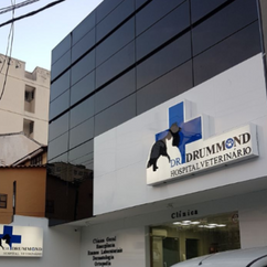 Fachada. Hospital Veterinário Dr. Drummond