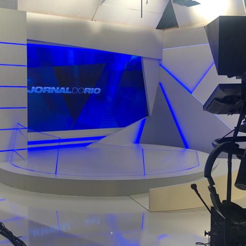 Cenografia Jornal do Rio - Tv Band