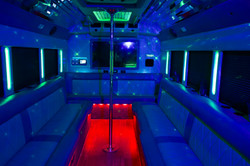 Interior of our Big Sexy Bus
