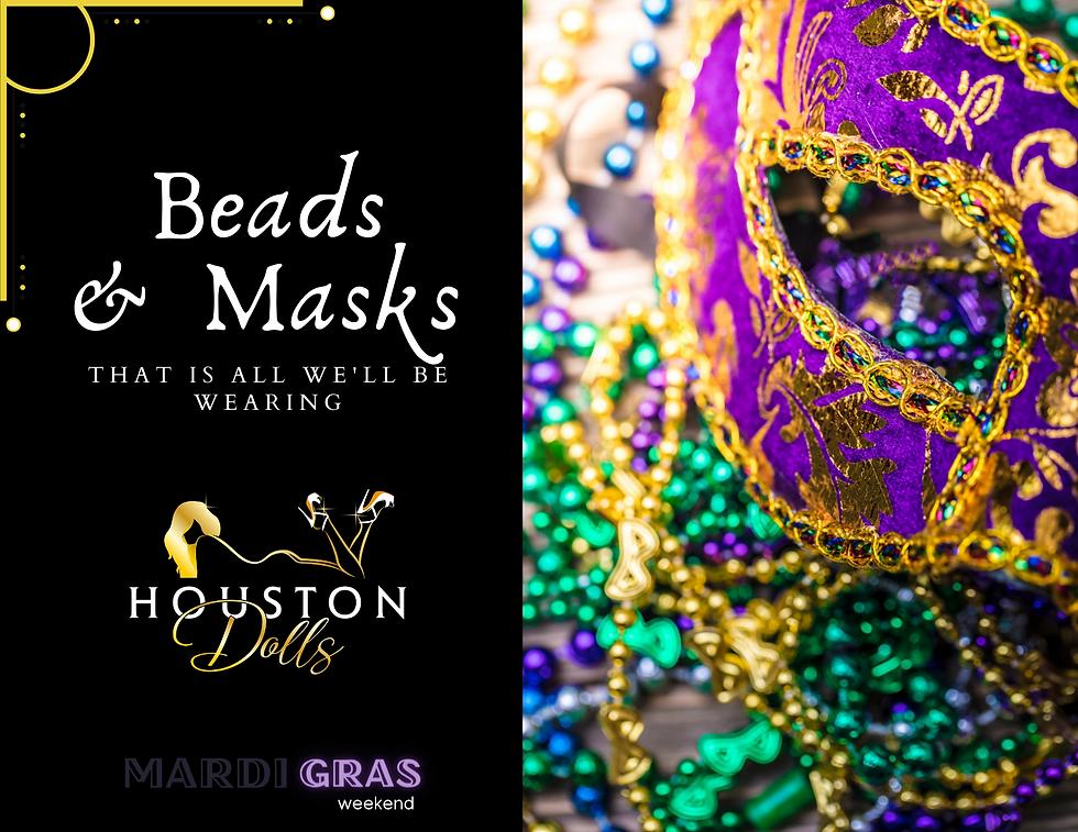 Mardi Gras event at Houston dolls