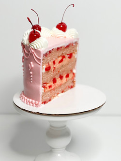 infused cherry chip cake