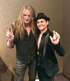 Sebastian Bach and I after the Westmark