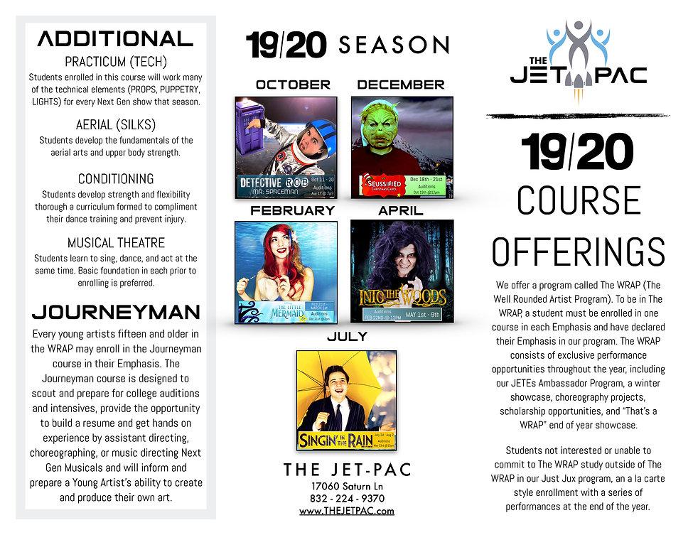 Upcoming Course Descriptions Flyer REVIS