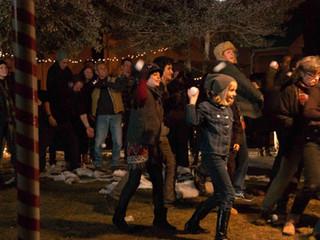 Snowball Fight in Hancock Park