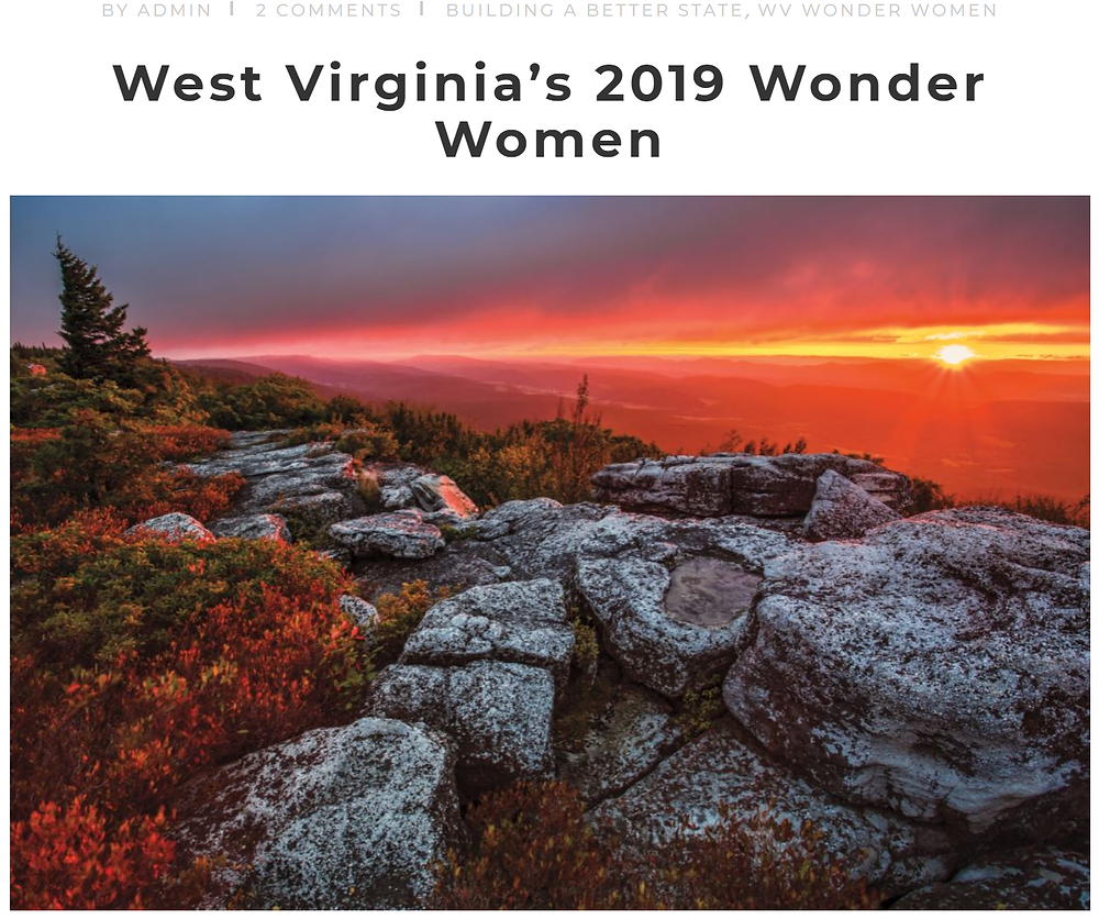 Cover of West Virginia's 2019 Wonder Women article, by WV Living magazine