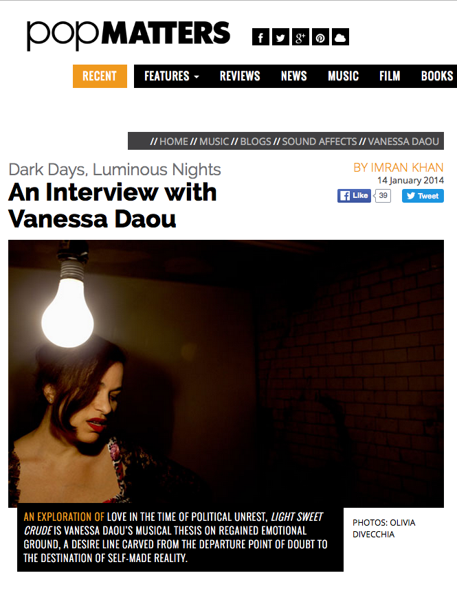 Vanessa Daou - Pop Matters - Light Sweet Crude Press