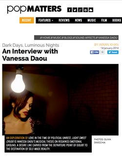 Vanessa Daou - Pop Matters - Light Sweet Crude Press