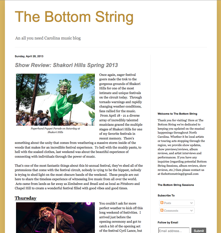 The Bottom String 2013