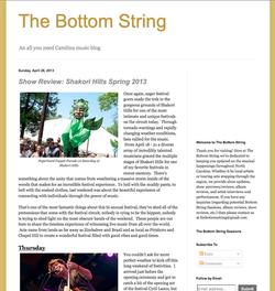 The Bottom String 2013
