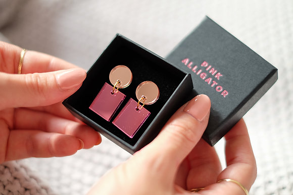 Pink and Rose Gold Rectangles