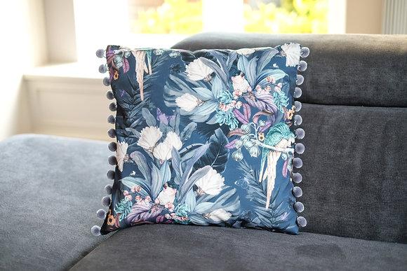 Parrot Pompom Cushion