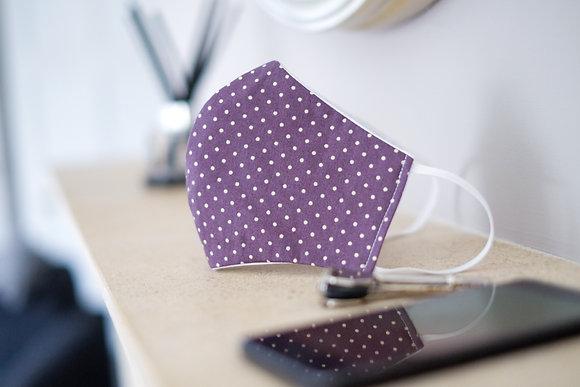 Purple Polka Dot Face Mask