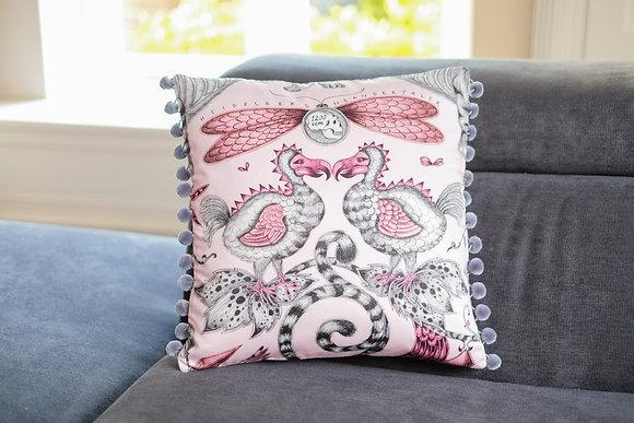 Pink Dodo Pompom Cushion