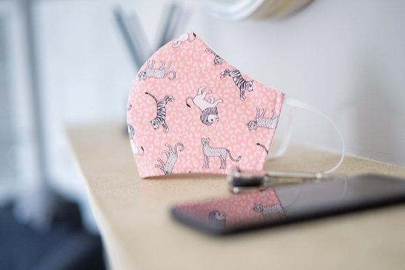 Pink Jungle Print Face Mask