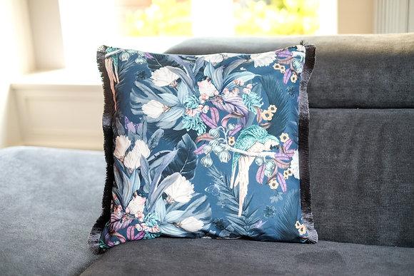 Parrot Fringe Cushion