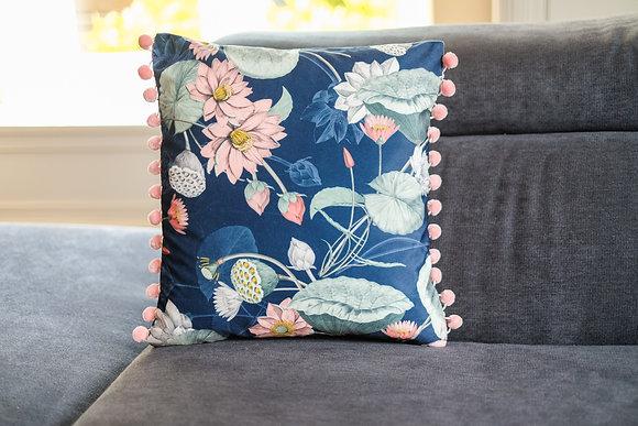 Mystic Garden Pompom Cushion
