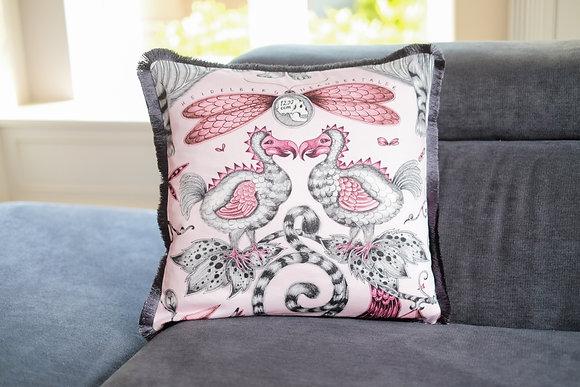 Pink Dodo Fringe Cushion