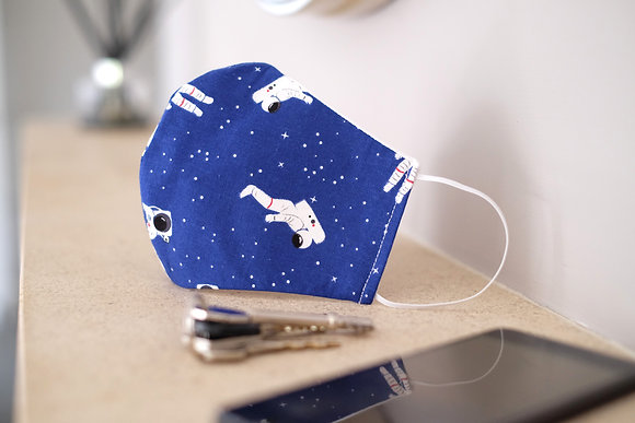 Blue Astronaut Face Mask